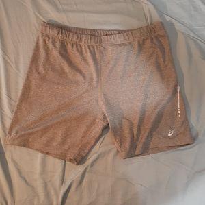 Asics Womens Heather Grey Plus Size Bike Shorts